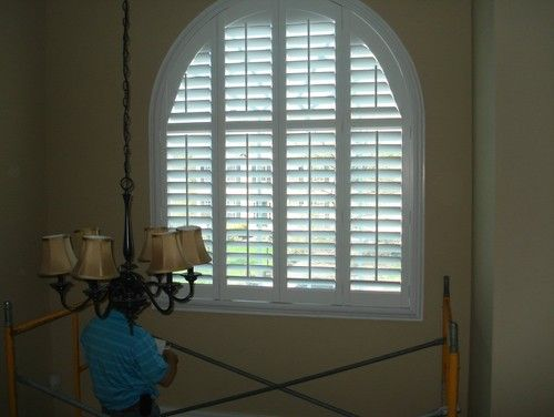 Foyer Window Treatment Traditional Window Blinds House
