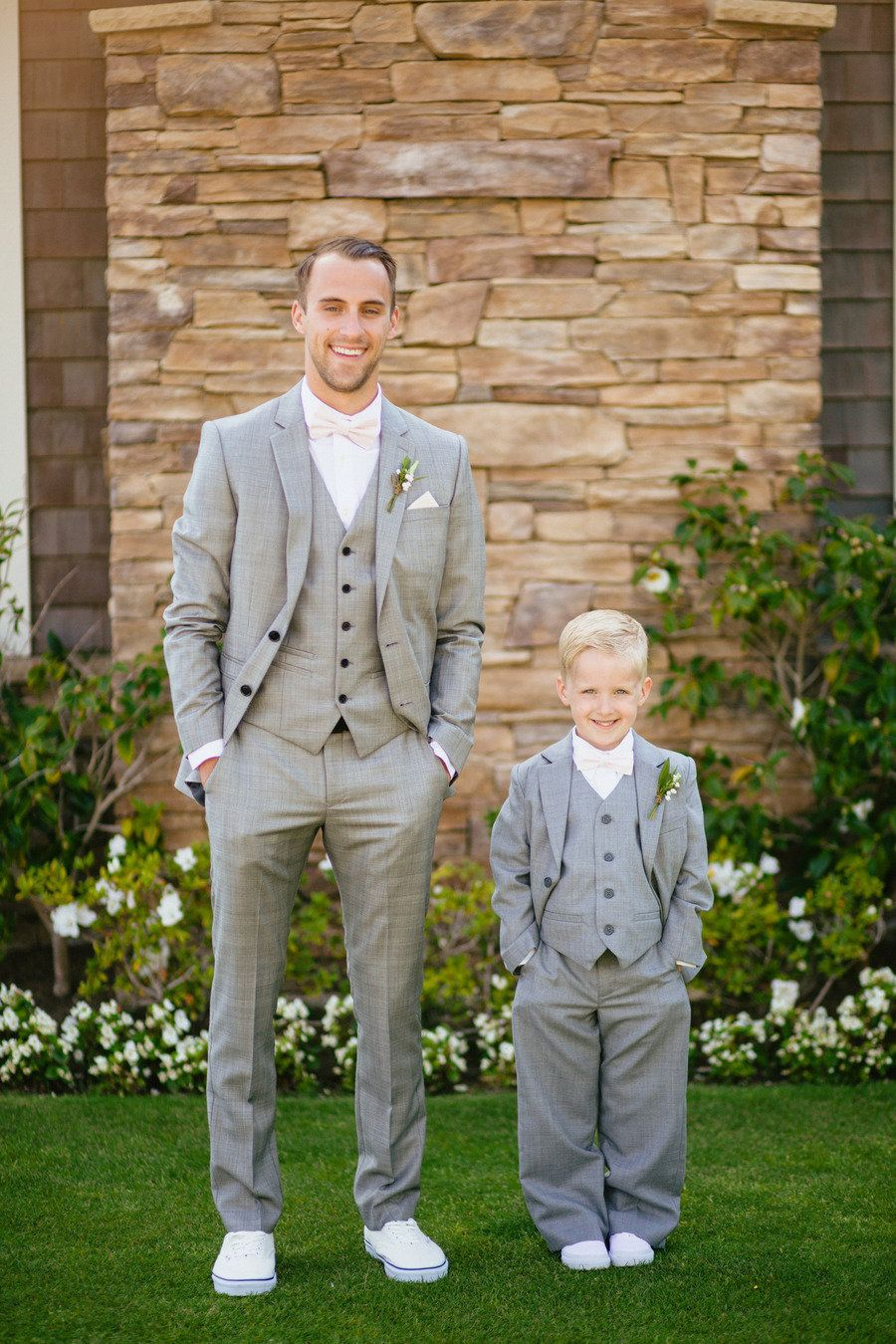 Laguna Beach Wedding From Sara And Rocky Photography Lafleur Dasi Bowtie Tie Knit Slim Best Man Self Bow Purple Flower Grey Suit Pink
