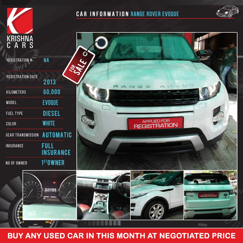 Car Information Used Range Rover Evoque Registration Number Na