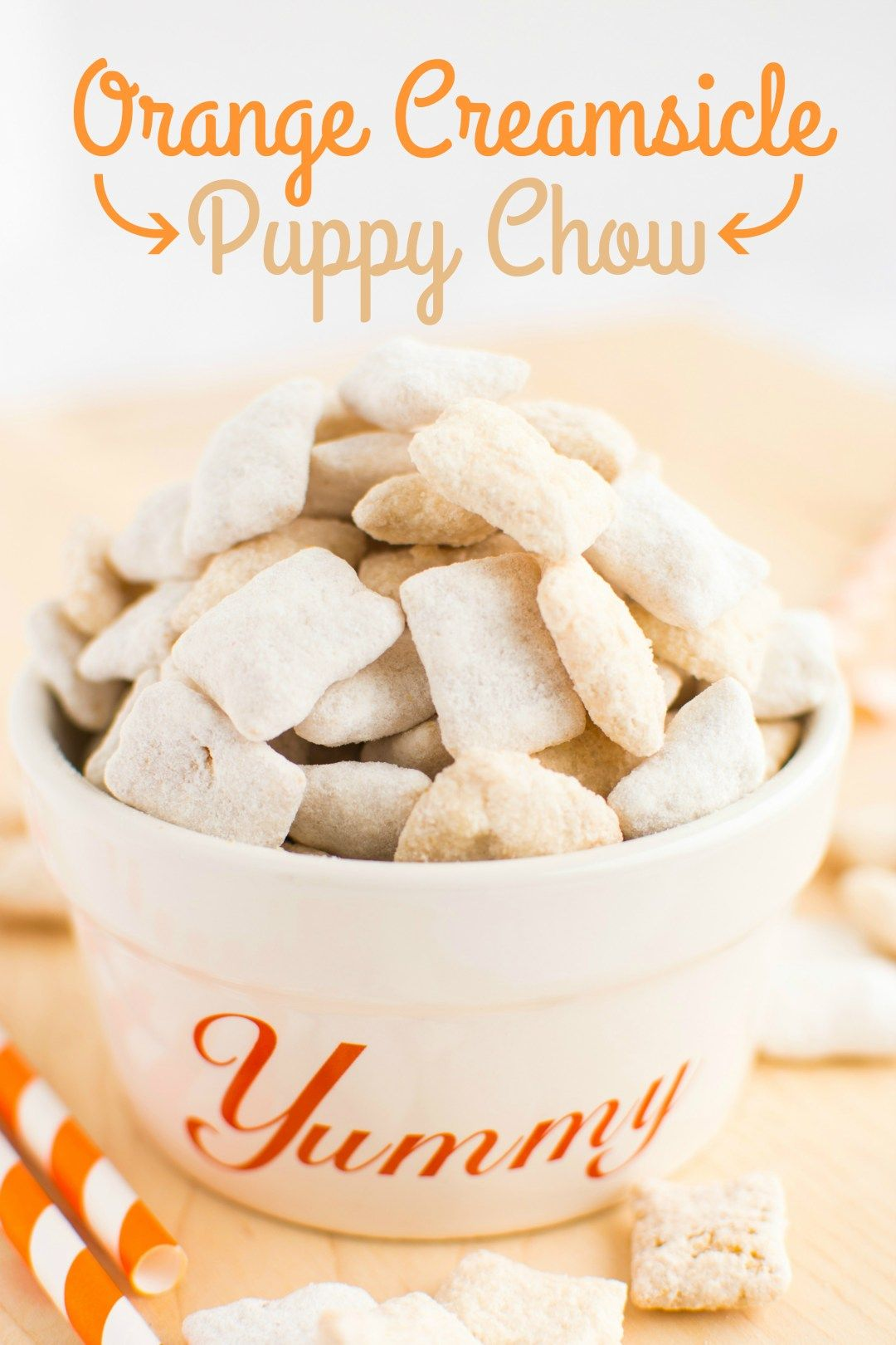 Orange Creamsicle Puppy Chow With Images Orange Creamsicle Chex Mix Lemon Puppy Chow