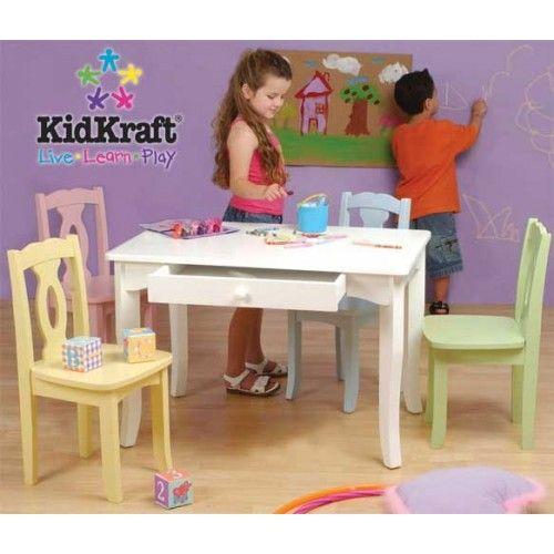 KidKraft Brighton Table \u0026 Chair Set with 4 Pastel Chairs  sc 1 st  Pinterest & KidKraft Brighton Table \u0026 Chair Set with 4 Pastel Chairs | KidKraft ...