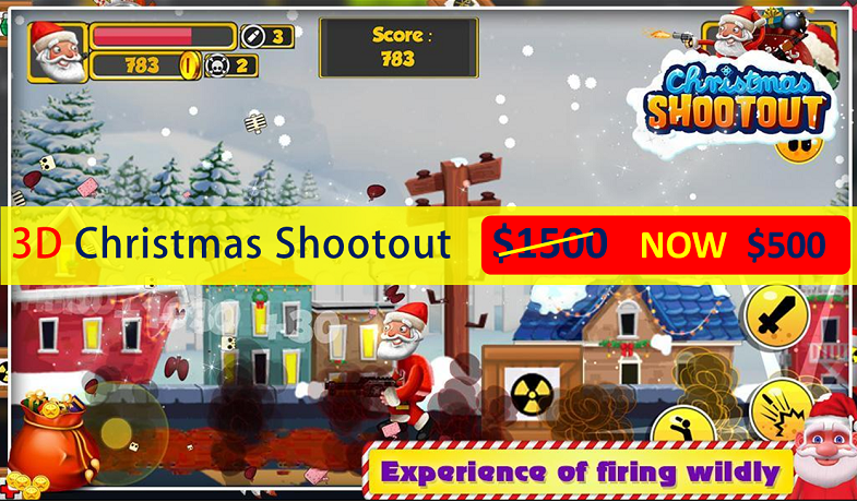 Get ready to launch 3D Christmas shooting game with the