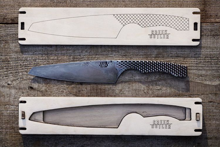 Re Purposed File Knives From Creek Cutler Are Made From Scrap Kitchen Knives Knife Design Wrench Knife