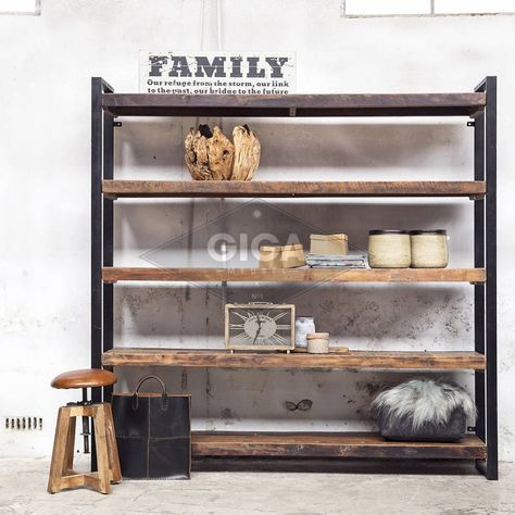 Giga Meubel Industriele Kast.Boekenkast Industrieel Open Big Home Decor Furniture