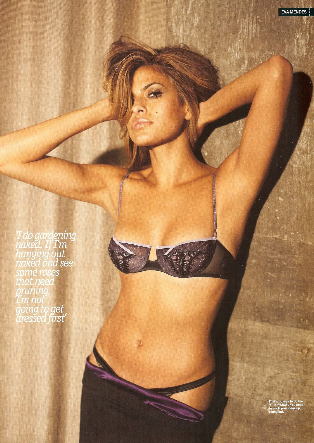 Celebrities nude pic eva mendes uncovers herself