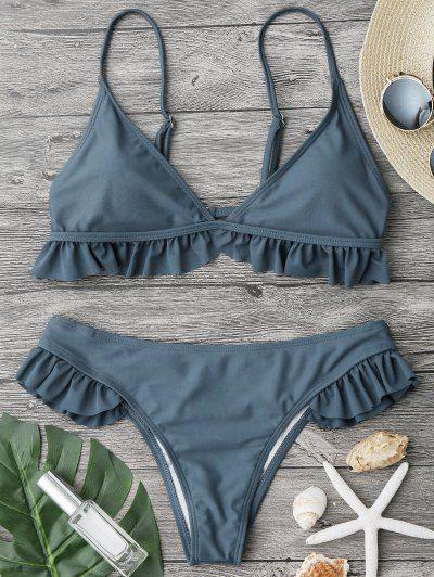 7e1ad3acb1 Bra Styles, Frill Bikini, Blue Bikini, Hot Bikini, Leopard Bikini, Swimsuits