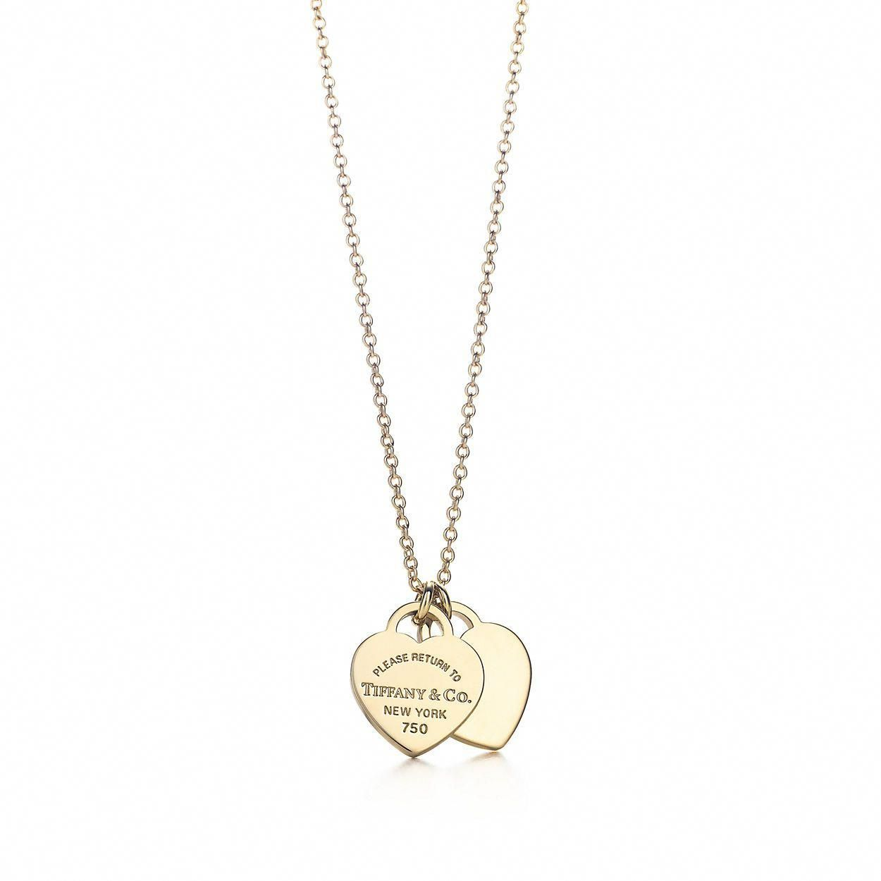 Tiffany 60% OFF! Return to Tiffany® mini double heart tag pendant in 18k gold.   Tiffany & Co. #heartnecklace #Jewelry #Tiffany #style #Accessories #shopping #styles #outfit #pretty #girl #girls #beauty #beautiful #me #cute #stylish #design #fashion #outfits #diy #design