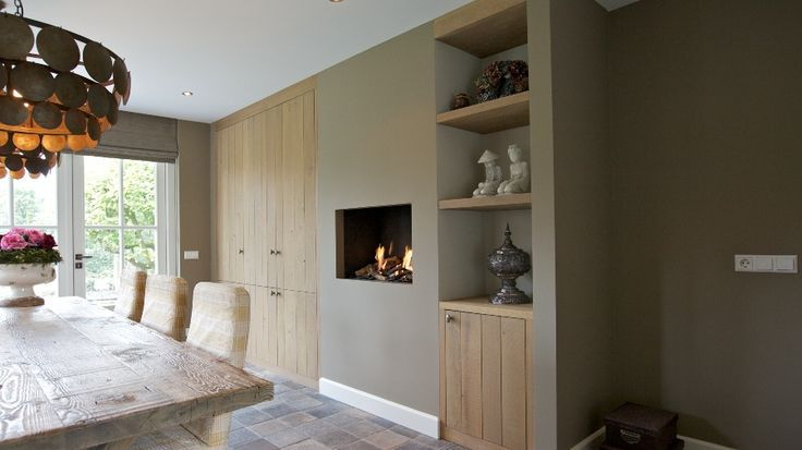 rustiek wonen - Google Search | Fireplace | Pinterest | Shelving ...