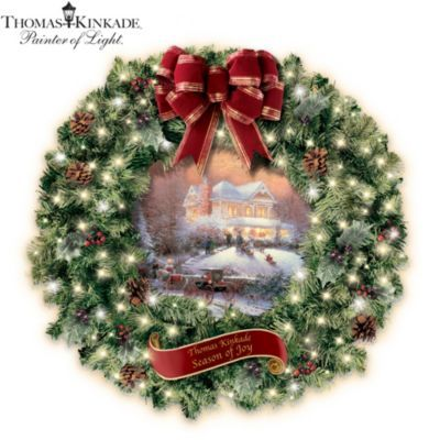 Exclusive Thomas Kinkade Art Christmas Wreath Is A Glowing Tribute