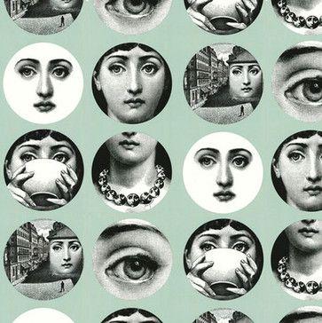 Tema e Variazioni Wallpaper Grey - contemporary - Wallpaper