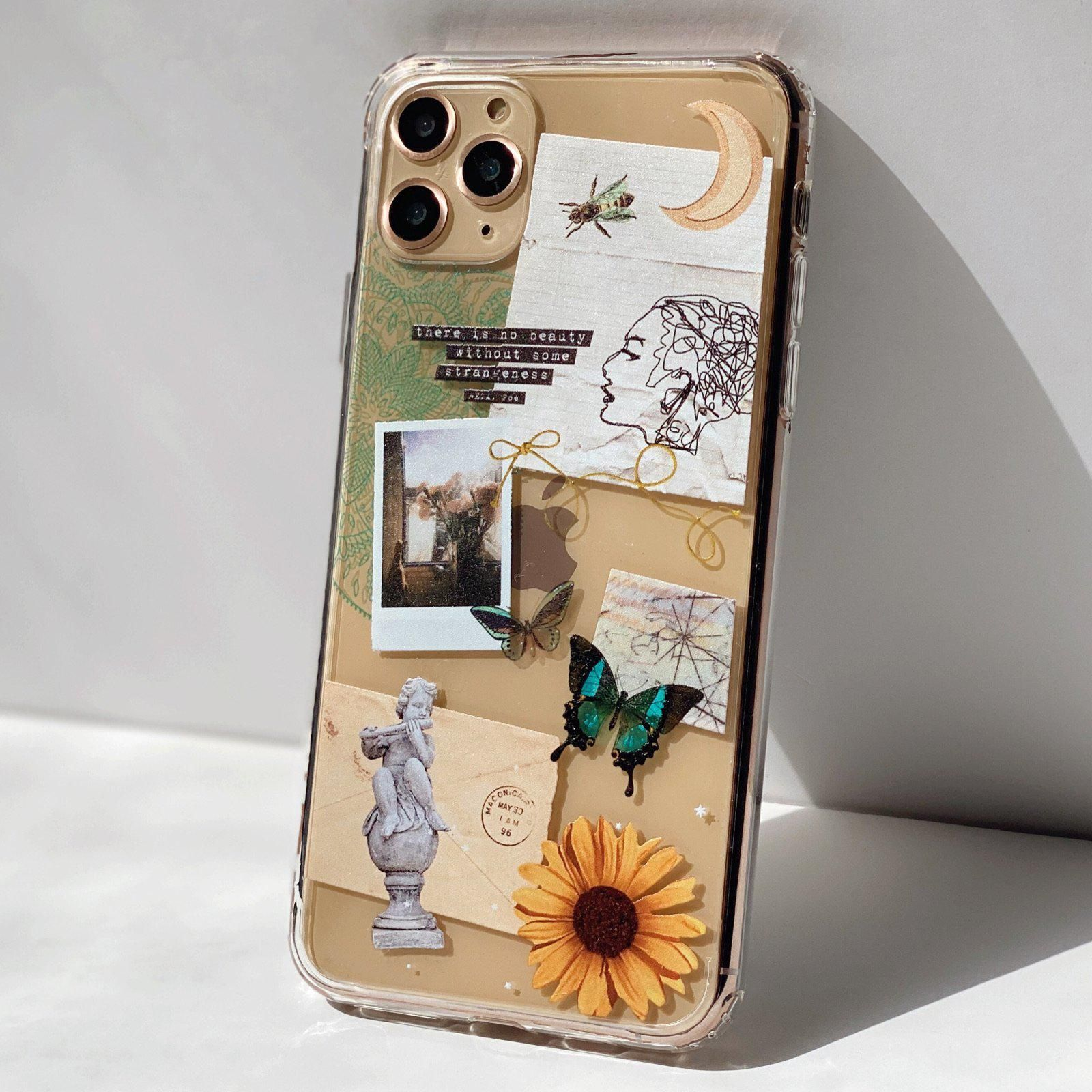 Strange Abstract Clippings Clear Phone Case - iPhone 11
