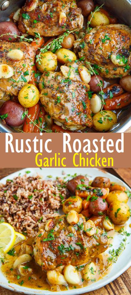 Easy recipe for roasted garlic chicken