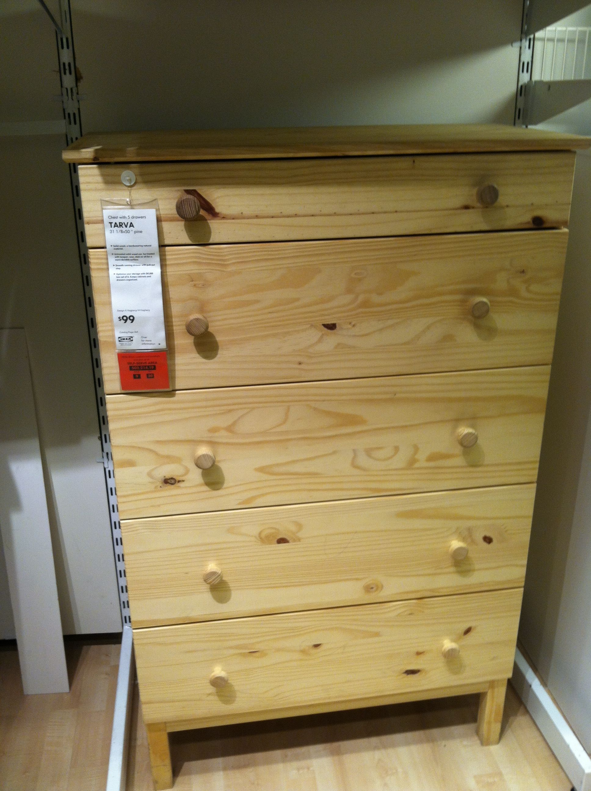 Tarva dresser from ikea stain everything a darkish color with a