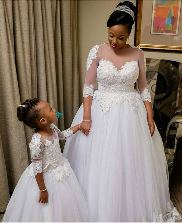 Absolutely Adorable Bride And Her Little Dresses By Sorayadapiedade Africansweetheartweddings Weddingdress Bridal