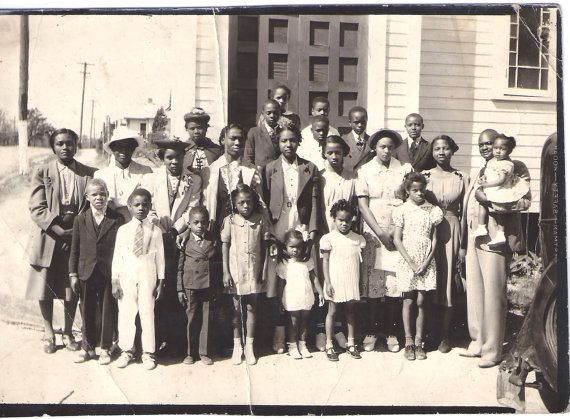 Vintage Photograph Sunday School Church Class African American