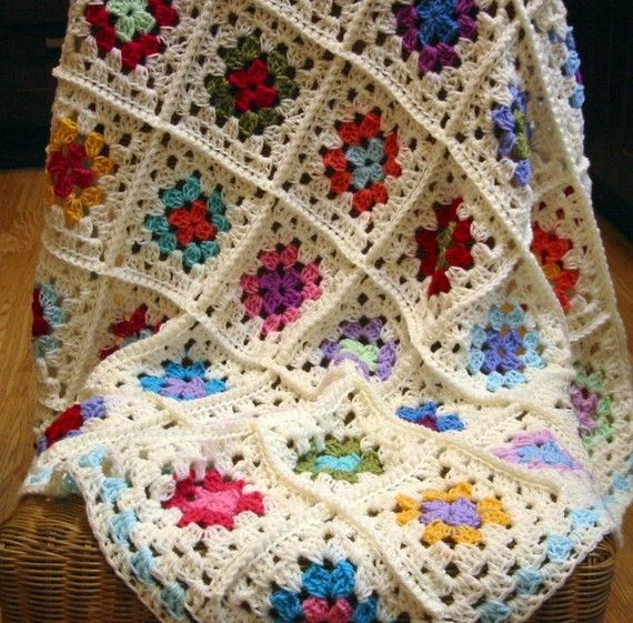 Crochet Baby Blanket Afghan Granny Chic Granny by Thesunroomuk ...