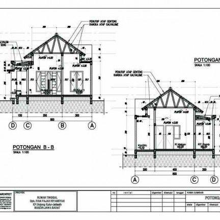 Desain Rumah Type 54 60 Potongan Desain Rumah Rumah Desain