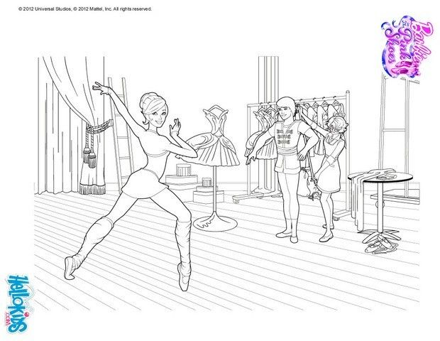 Ballerina Kristyn coloring page. More Barbie Ballerina content on ...