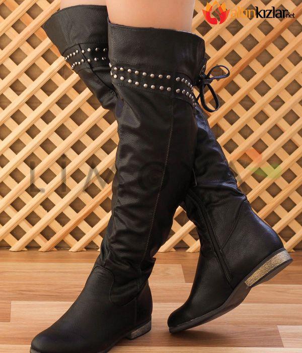 2015 Bayan Diz Ustu Uzun Cizme Modelleri Uzun Cizme Cizmeler Topuklu Ayakkabilar