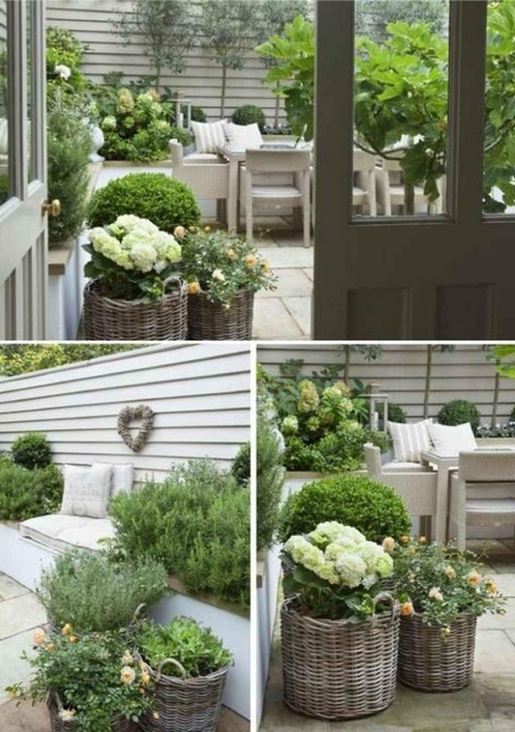 95 Inspiring Small Courtyard Garden Design Ideas #smallcourtyardgardens