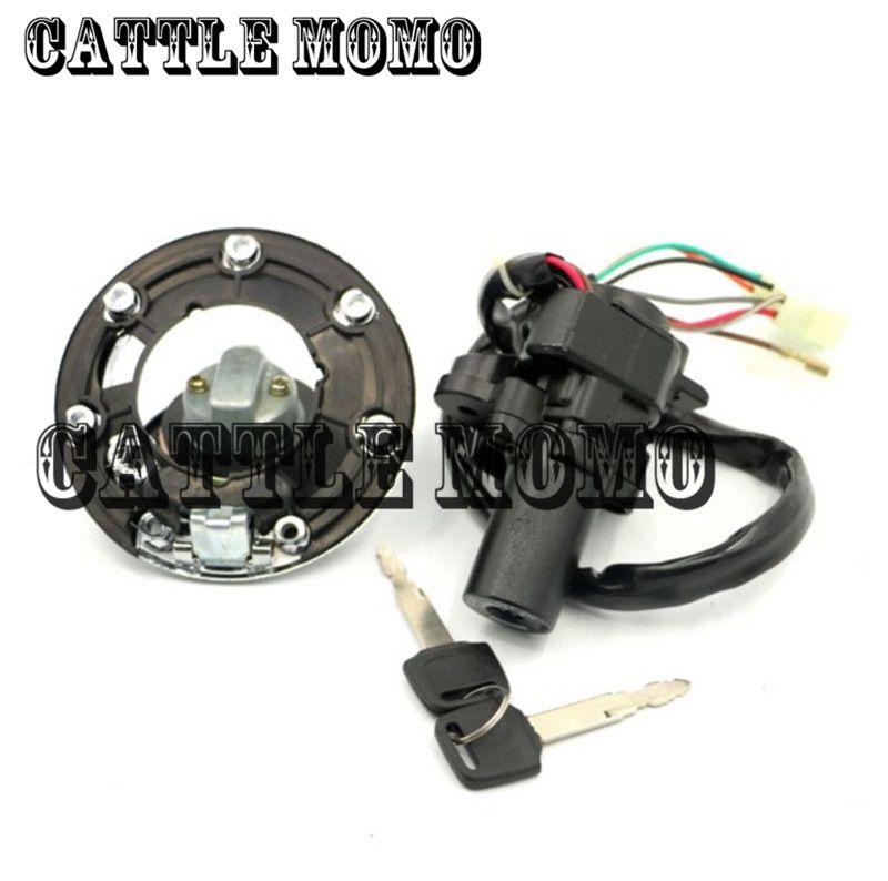 Fuel Gas Cap Ignition Switch Seat Lock Key Set For Kawasaki ZZR600 1993-2004