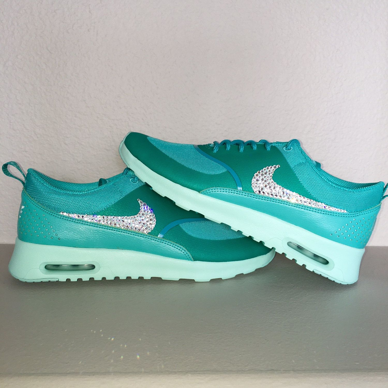 Nike Air Max Thea Turquoise Blue Swarovski® Xirius Rose