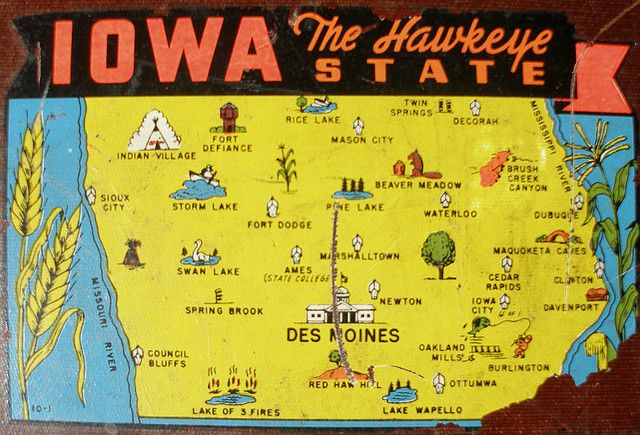 Iowa Decal Iowa Storm Lake Funny Maps
