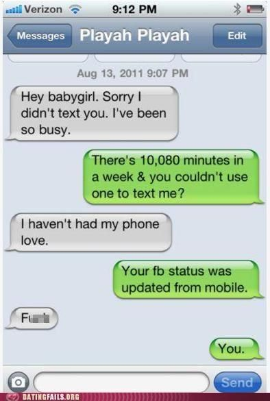 Dating text messages funny