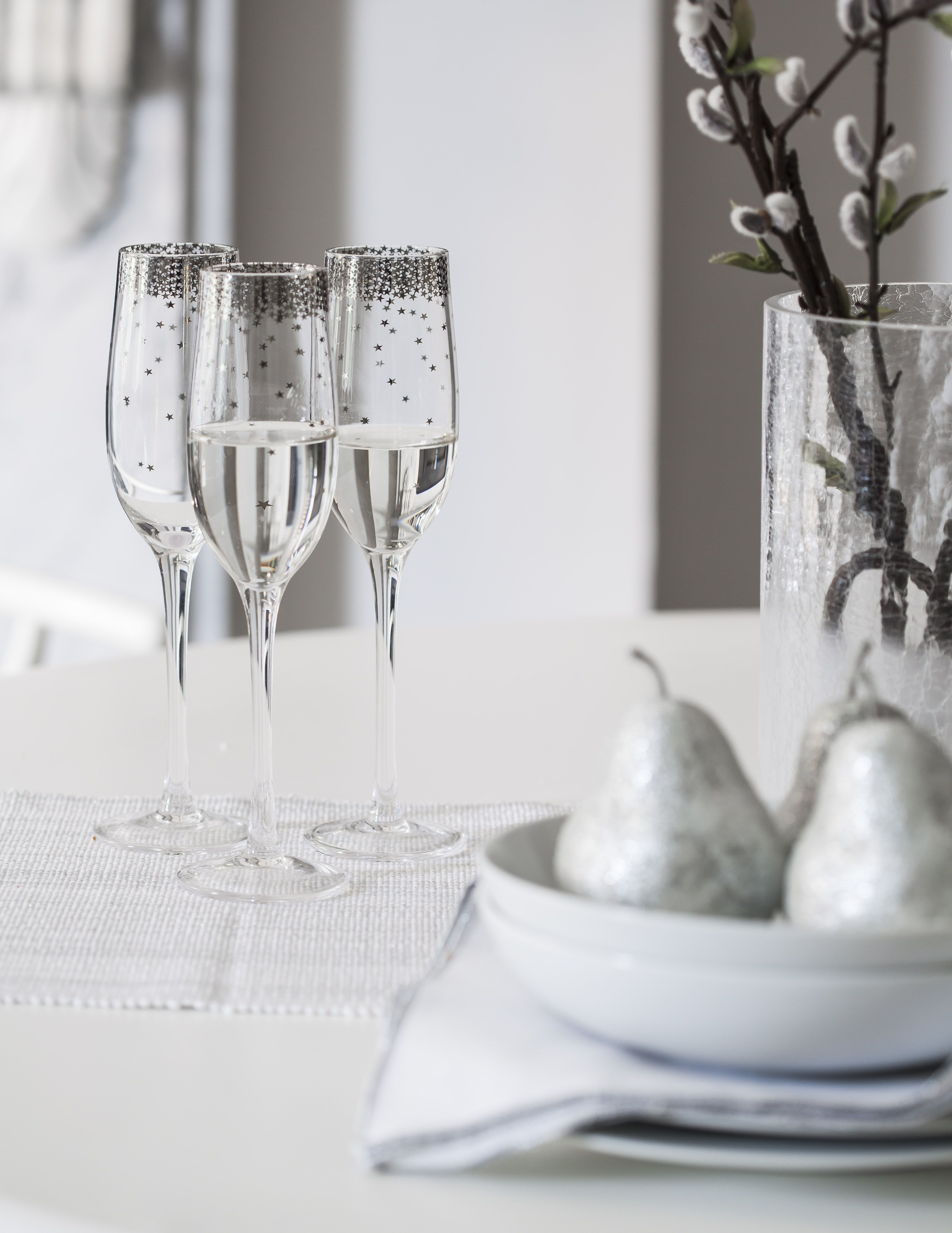 Give Your Home A Sophisticated Spin This Christmas Marie Claire Sainsburys Home Glassware Christmas