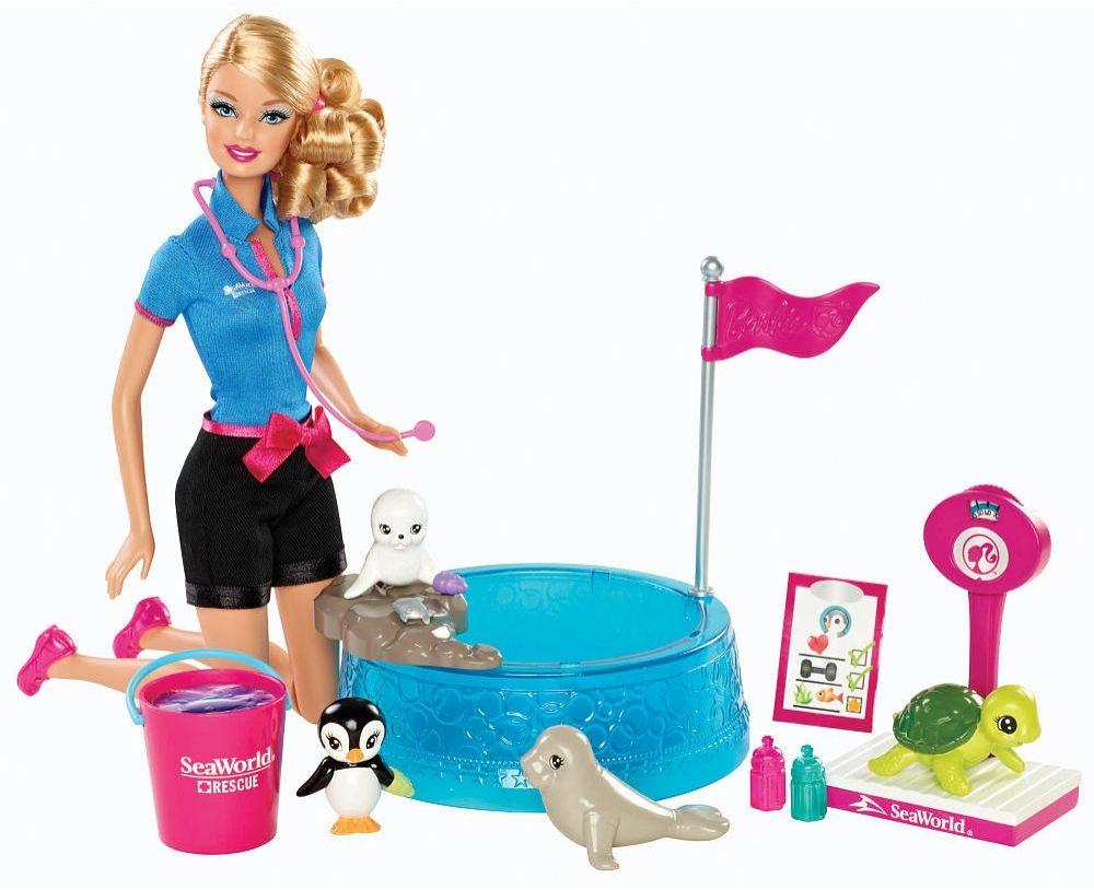 Barbie I Can Be Seaworld Wildlife Playset Barbie Playsets Barbie Toys Barbie I