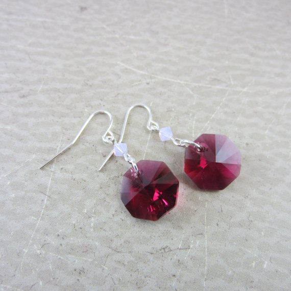 Gorgeous dark pink dangles! See them now at studio 1227.