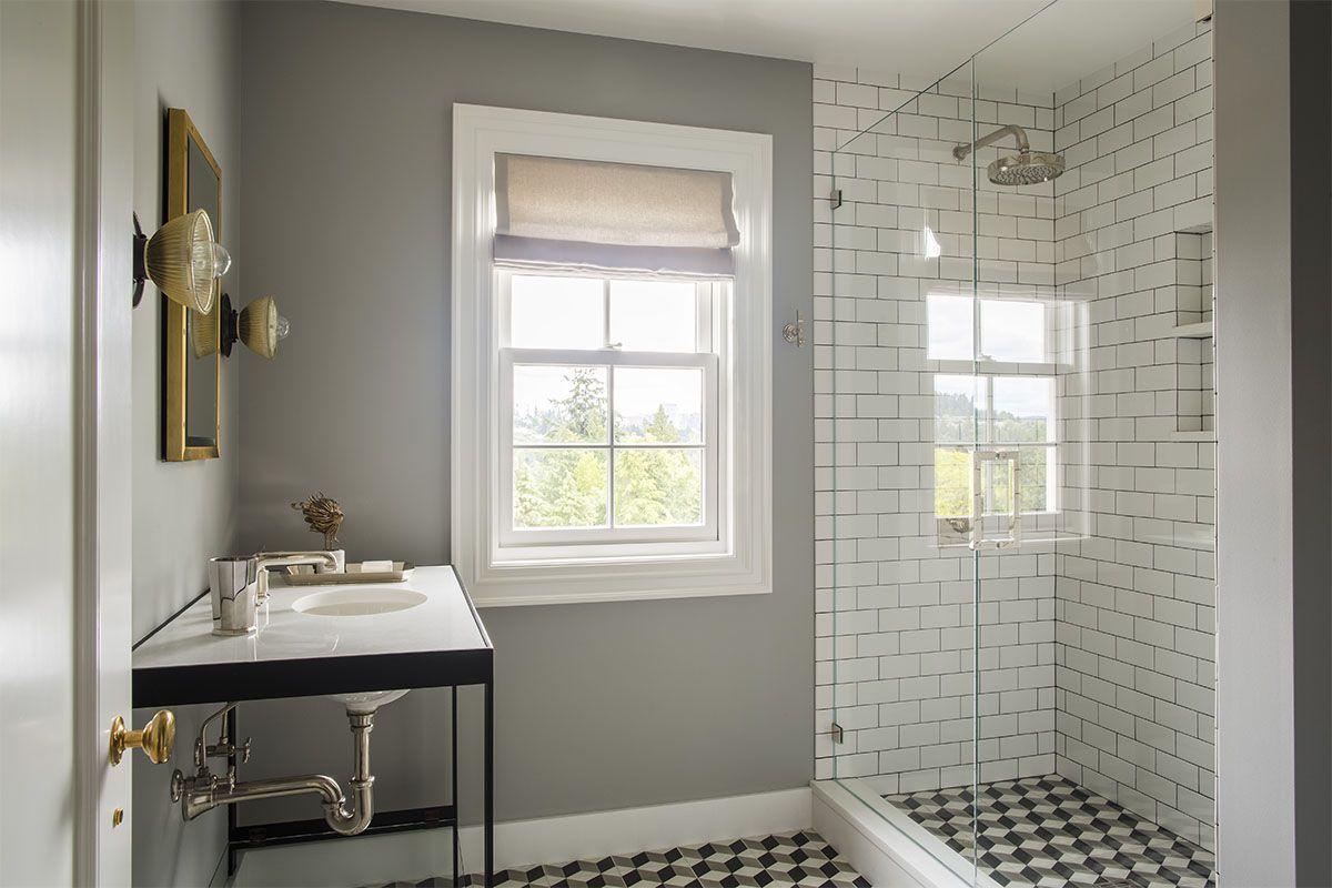 Floor Tiles Continue Into Shower Flooring Nate Berkus Interiors Best Bathrooms Nate Berkus Interiors Bathroom Decor Kid Bathroom Decor Amazing Bathrooms