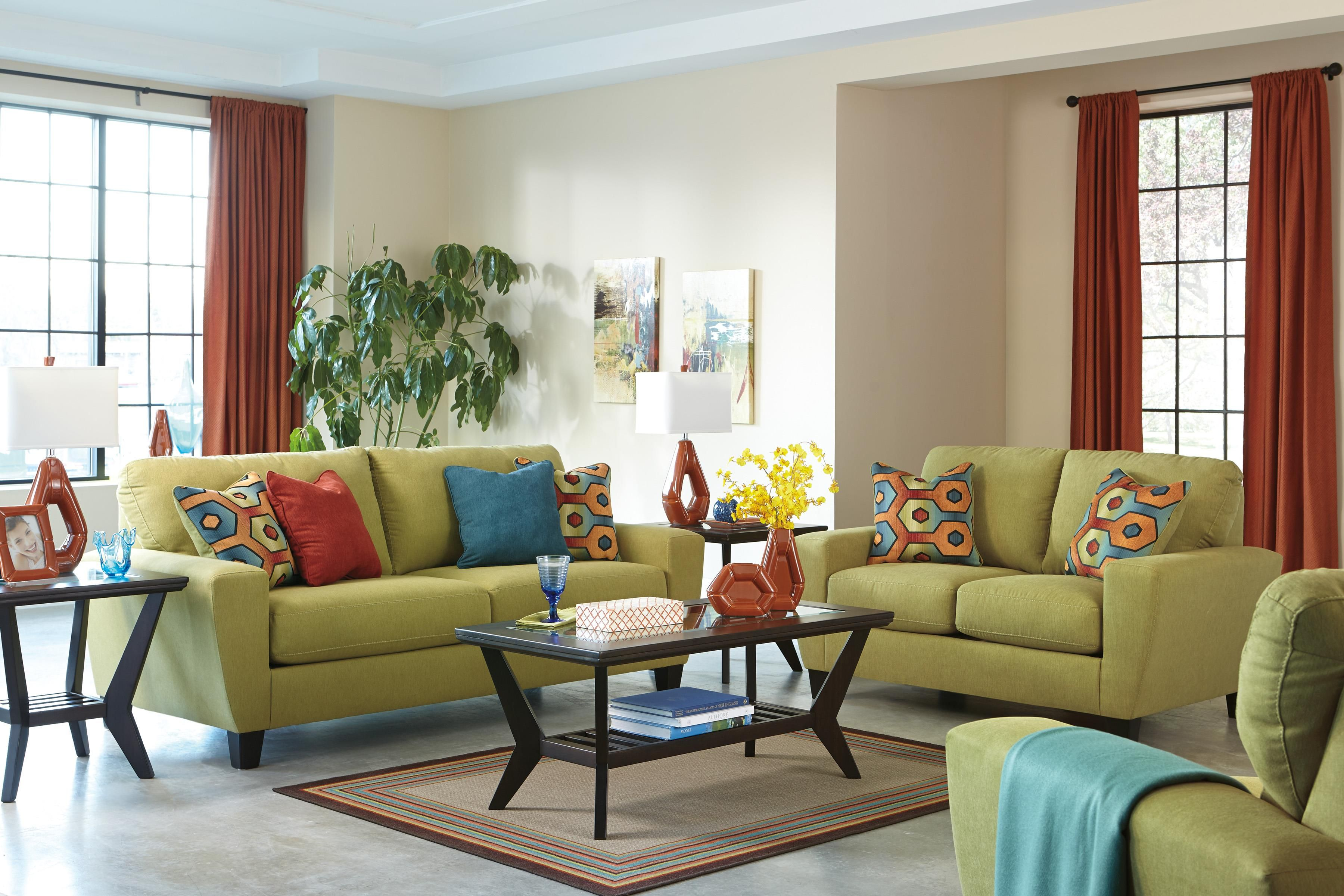 Sagen Stationary Living Room Group By Signature Design Ashley Part Of The Collection Sku