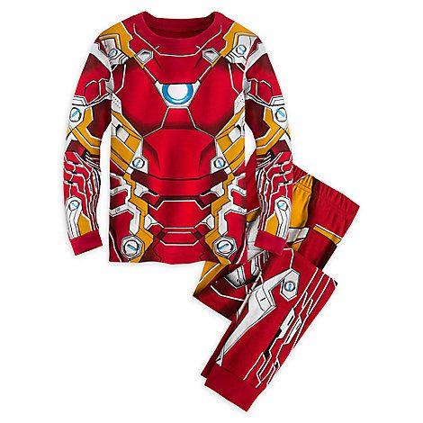 NWT Disney Store Iron Man Costume PJ Pals Sleep Set Avengers Age of Ultron 7