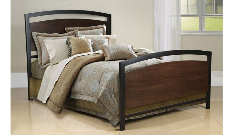 Bell O Wood Metal Queen Bed By Twin Star International Coming