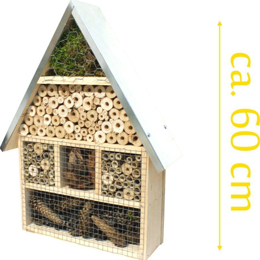 H tel insectes 45x14x59cm bois de pin abeilles maison for Abeilles dans la maison