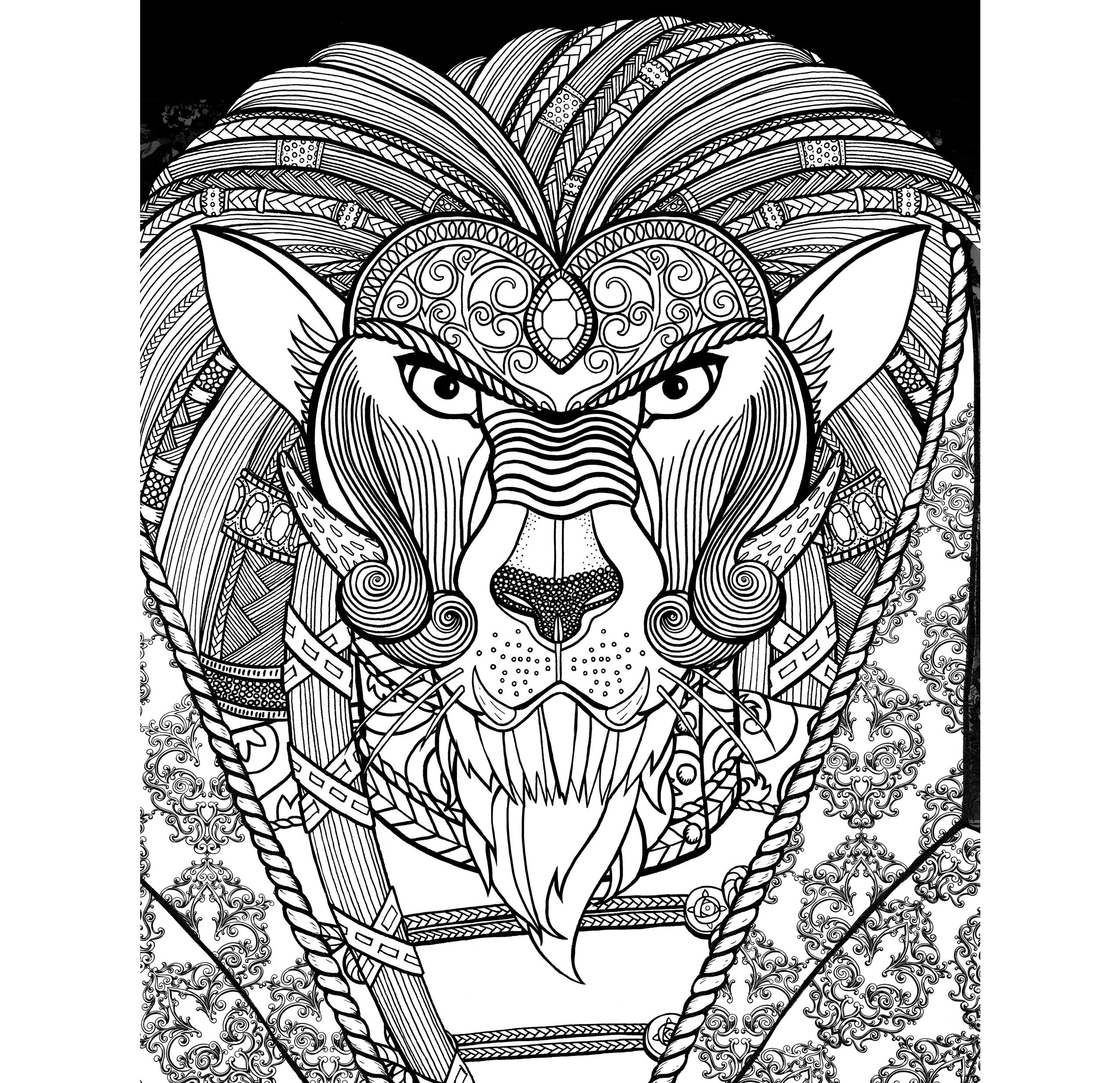 Beauty And The Beast A Coloring Book Free Page