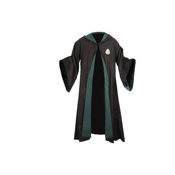 Harry Potter Authentic Replica Adult Slytherin Robe ($120) ❤ liked ...