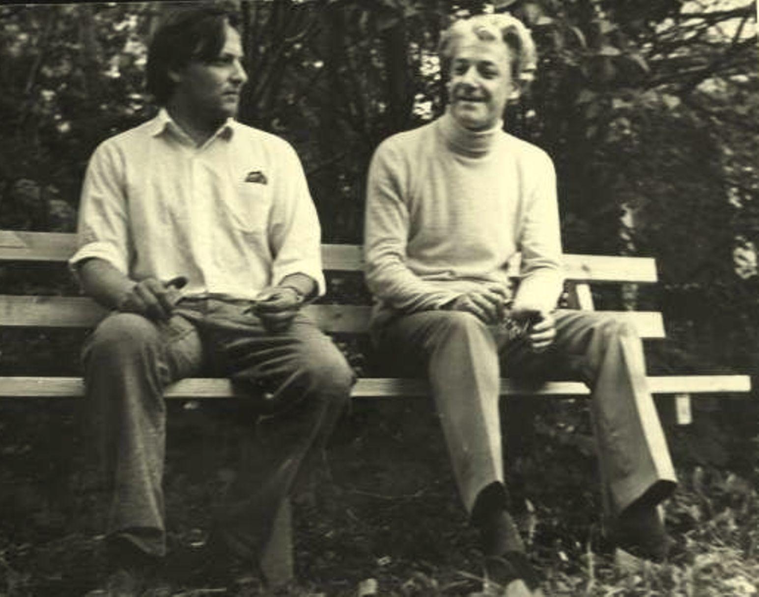 Leonid Pasternak e Stanislav Neuhaus nella dacia dello scrittore a Peredelkino (Leonid P.: Fisico, figlio dello scrittore e di Zinaida Nikolaevna Eremeeva - ex Neuhaus).