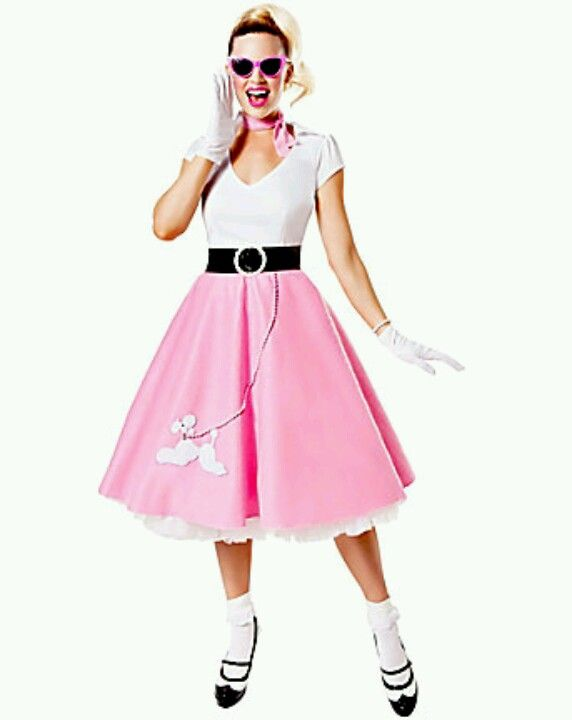 50s Style Outfit With Frilly White Socks Halloween Ideas