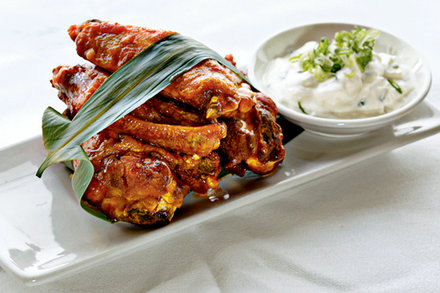 Spicy Sriracha Wings With Cucumber Sour Cream Recipe Recipe In 2020 Chicken Wing Recipes Recipes Cooking Chicken Wings