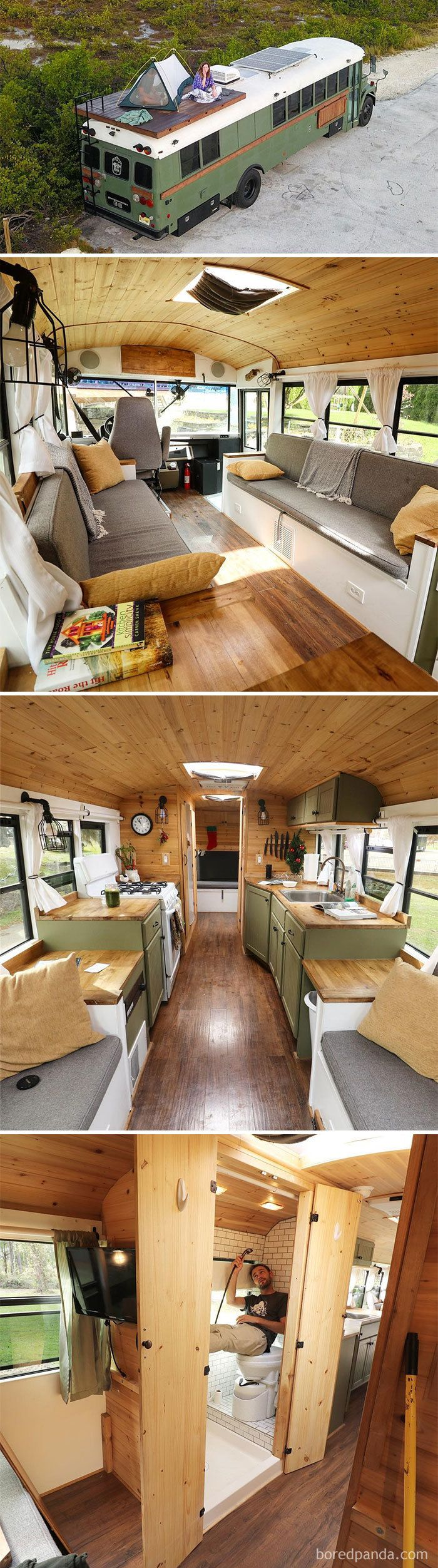 As 30 transformações mais épicas de vans e ônibus que vão te inspirar a cair na estrada #tinyhome