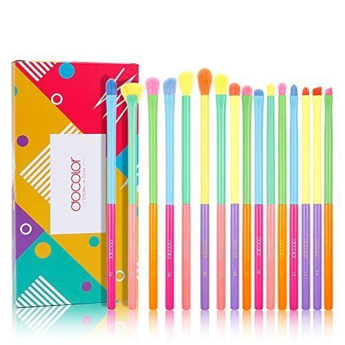 Docolor Make-up Pinsel Bunte Make-up Pinsel Set – 16 Stück Set