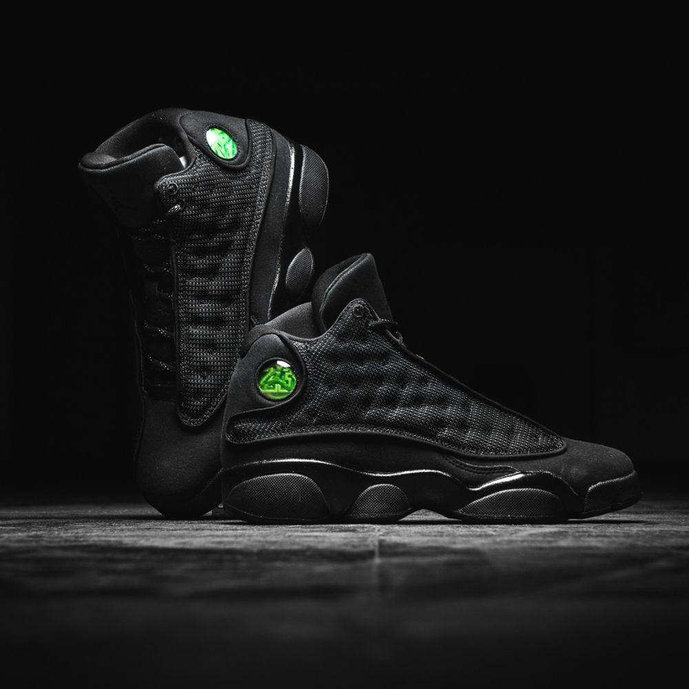 0330b8a0a1e Nike Air Jordan 13 Retro BG (884129-011) Black Cat USD 130 on Sale ...