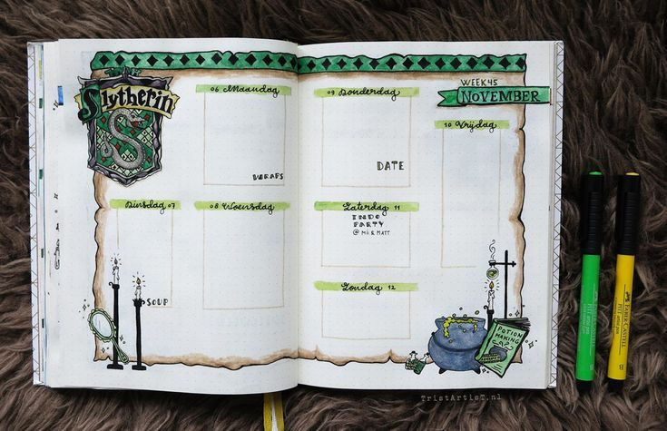 Bullet Journal - Harry Potter Hufflepuff-Thema  #bullet #harry #hufflepuff #journal #potter #thema #octoberbulletjournal