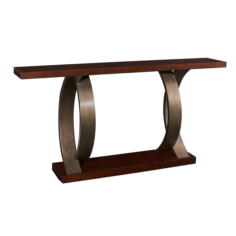 Powell Miles Console Table Brown Wood Legs Wooden Console Console Table