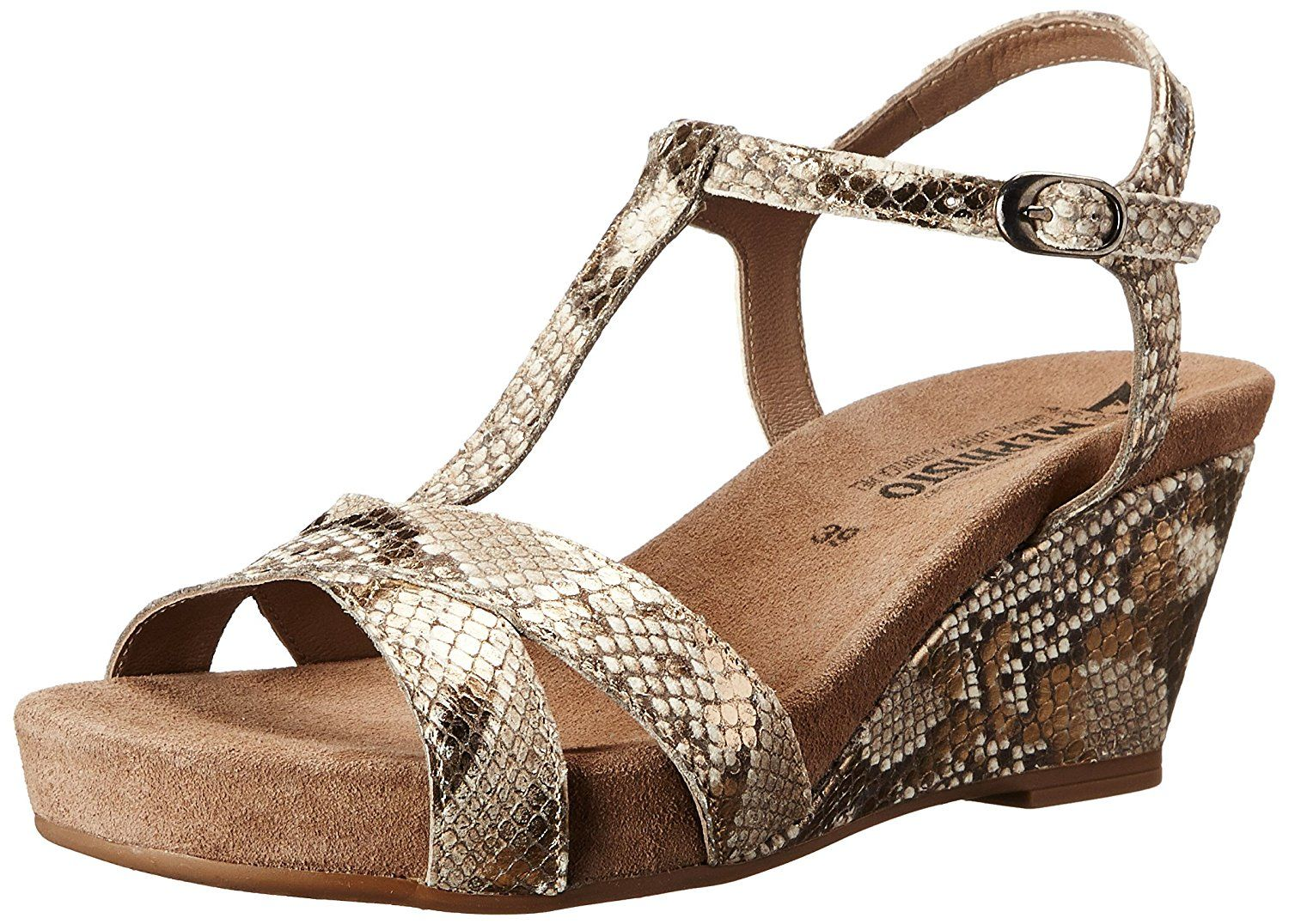 Mephisto Women's Batida Wedge Sandal, Gold Boa, 8 M US * Check this awesome  product by going to the link at the image.