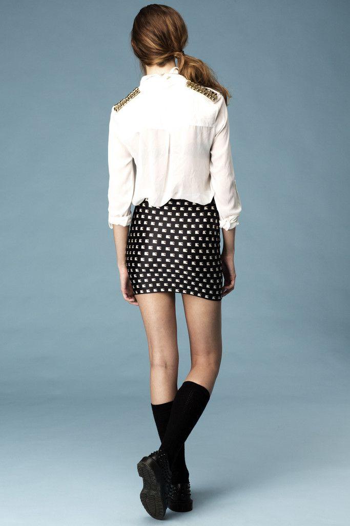 Stud My Life #Skirt #studs #3D #lovelysally