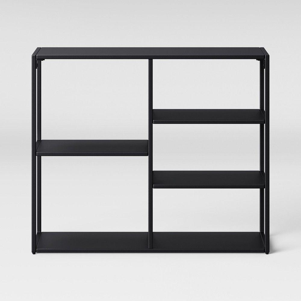 Glasgow Computer Desk Black Project 62 Horizontal Bookcase