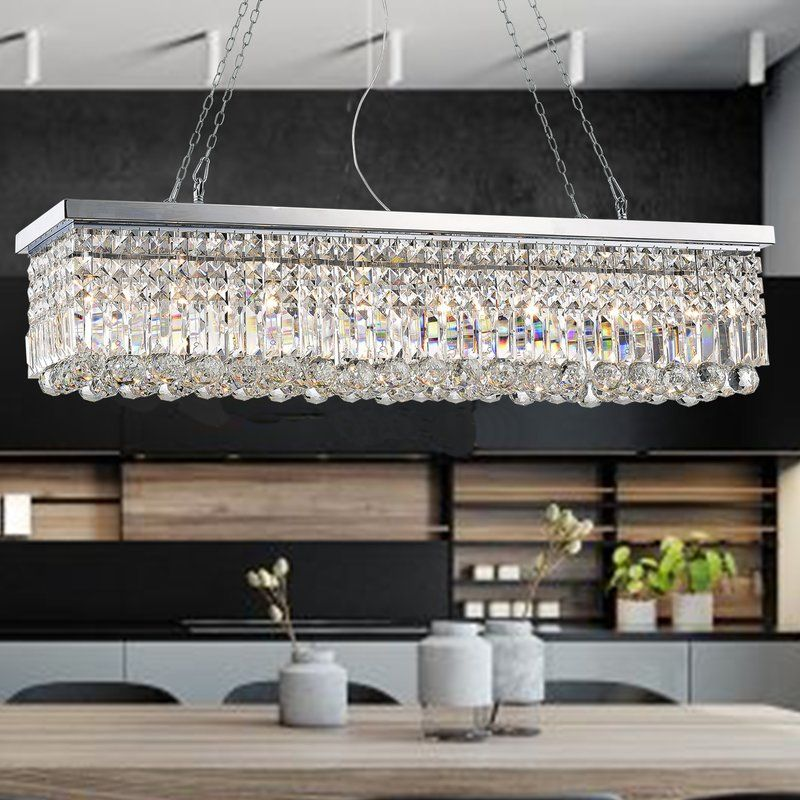Gracelyn 8 Light Crystal Chandelier Kitchen Lighting Crystal